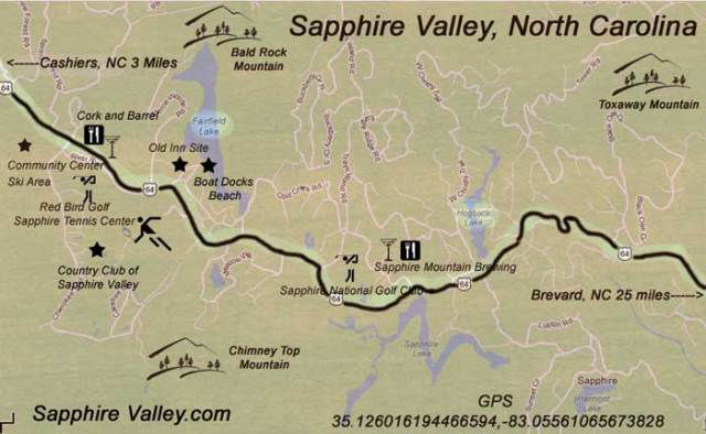 sapphire valley resort map