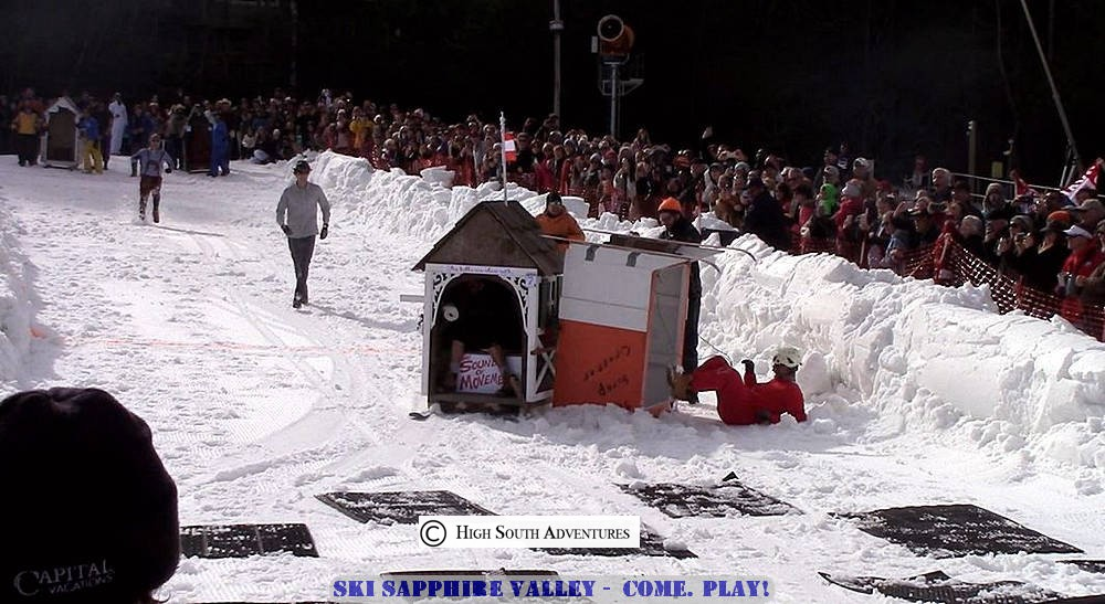 ski sapphire great outhouse races